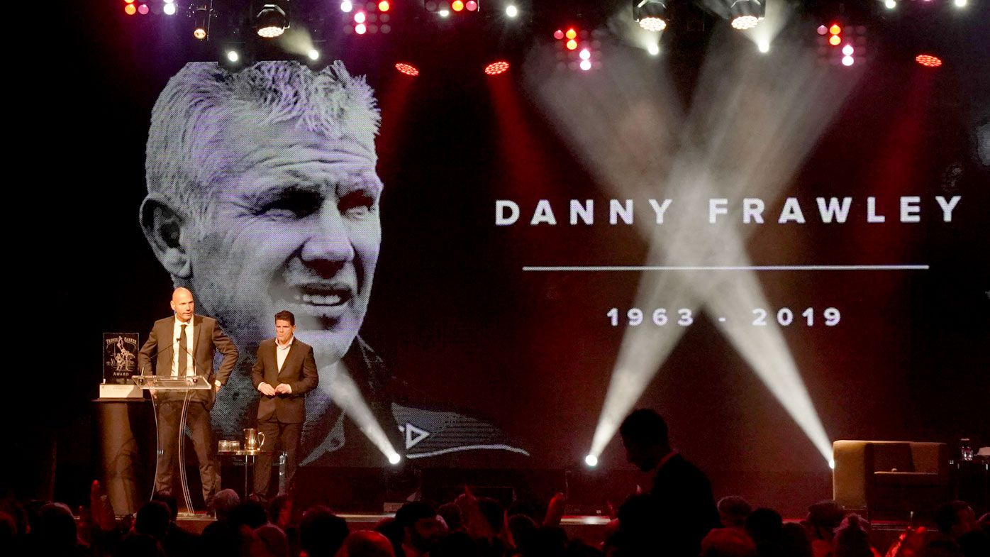 St Kilda greats pay emotional tribute to Danny Frawley at club's AFL awards