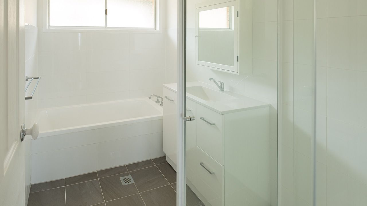 BEFORE: The main bathroom
