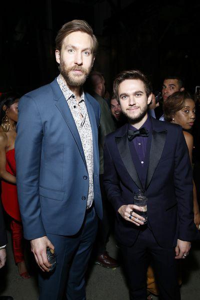 Musicians Calvin Harris and Zedd atUniversal Music Group's 2018 Grammy's After Party