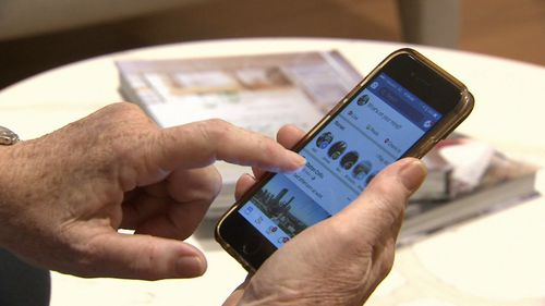 The service allows seniors to stay up-to-date with technology advances. Image: 9News