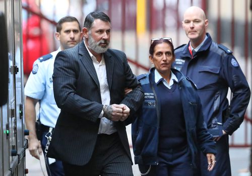 Karl Michael Hague was today sentenced to a maximum 26 years in prison over the 1995 Melbourne stabbing death of teen Ricky Balcombe. Picture: 9NEWS.