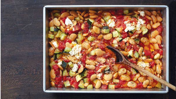 One pan stewed butter beans