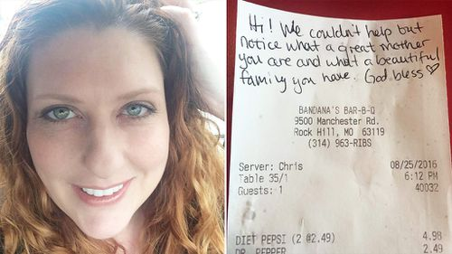 Mother of boy with autism 'touched' after restaurant patron pays her bill
