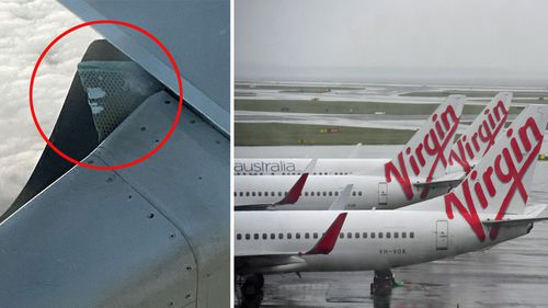 Virgin Australia flight diverts to Brisbane after 'chunk' of wing comes loose