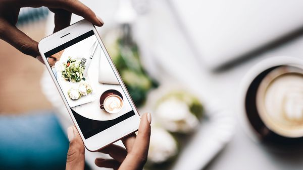 Photographing food for Instagram