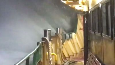 Sydney sun will return this weekend as dramatic video shows Manly ferry smashed by waves