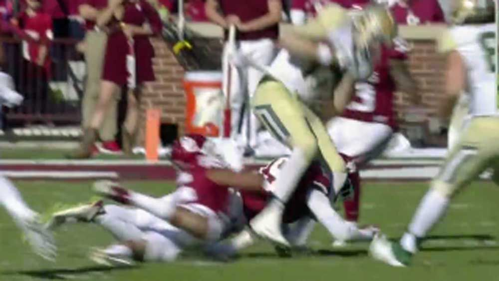 Gridiron: Quarterback suffers gruesome leg injury