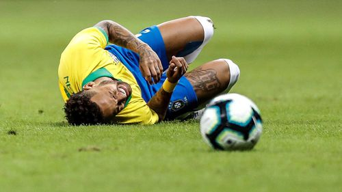 Neymar played in a friendly between Brazil and Qatar on Wednesday.