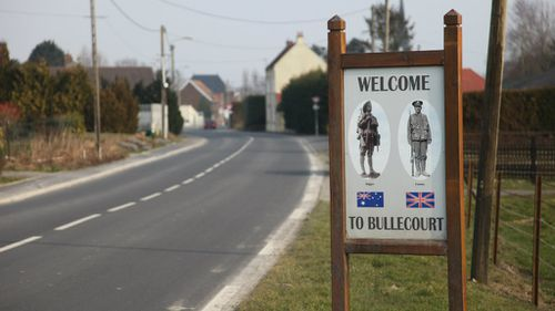 The bodies of two Australian WWI soldiers have been found at a battlefield at Bullecourt, France. (AAP)