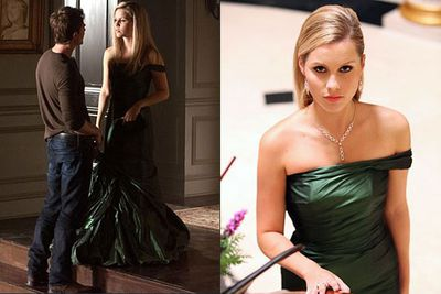 Becoming Rebekah meant getting dolled up in high contemporary style as well as in period attire.