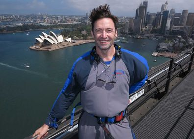 BridgeClimb Sydney -- Hugh Jackman on top of the Sydney Harbour Bridge