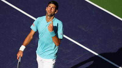 Djokovic looks skyward for answers