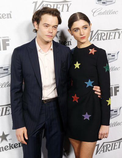 Charlie Heaton and Natalia Dyer attend Variety and Women In Film's 2018 Pre-Emmy celebration.
