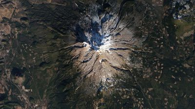 California's Mount Shasta is a popular place for skiing in the winter, but not this year. Limited snowfall meant only two to three inches on the slopes last January -- too little for skiing.