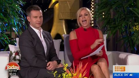 Sonia Kruger caught Sam Frost still in her Logies dress at 7am