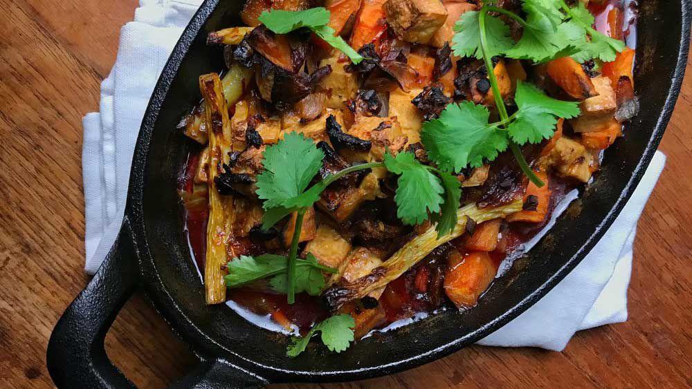 A vegan chinese hot pot