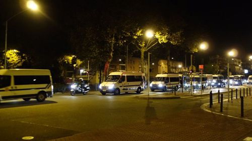 Special operations police move in near Toulouse. (@ladepechedumidi)