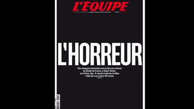 French newspaper <em>L'EQUIPE</em> had the headline, 'Horror'.