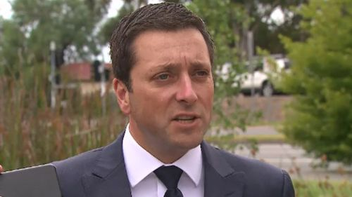 "Opposition Leader Matthew Guy accused the premier of ""bullying the state"". (9NEWS)"
