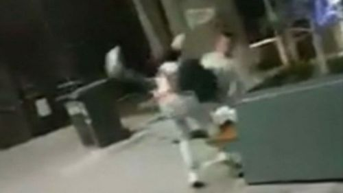 The victim was thrown to the ground and punched repeatedly in the attack. (Supplied)