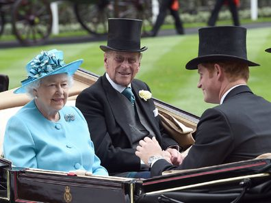 Royals in a carriage
