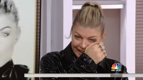 Fergie breaks down in tears over new music