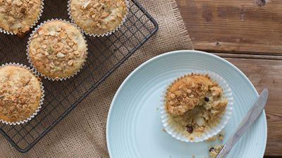 "Recipe: <a href=""http://kitchen.nine.com.au/2017/09/19/16/45/pear-and-muesli-muffins"" target=""_top"">Pear and muesli muffins</a>"