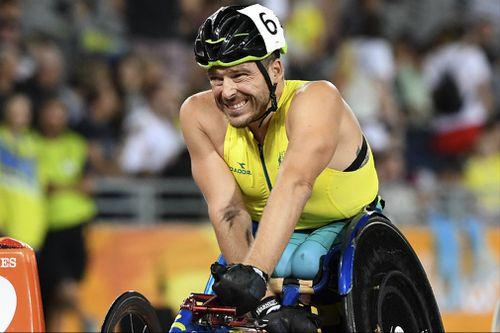 Fearnley took the silver medal in his last track race. (AAP)