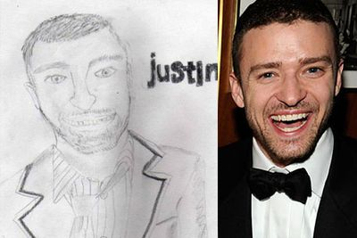 Fans pay tribute to their favourite celebs with these 'interesting' artworks.<br/><br/>Pics via <i>Buzzfeed</i>, <i>tumblr</i> and the world wide web.