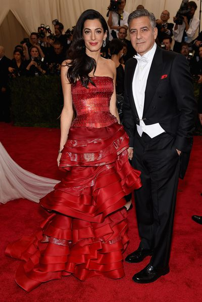 Amal Clooney and her John Galliano dress