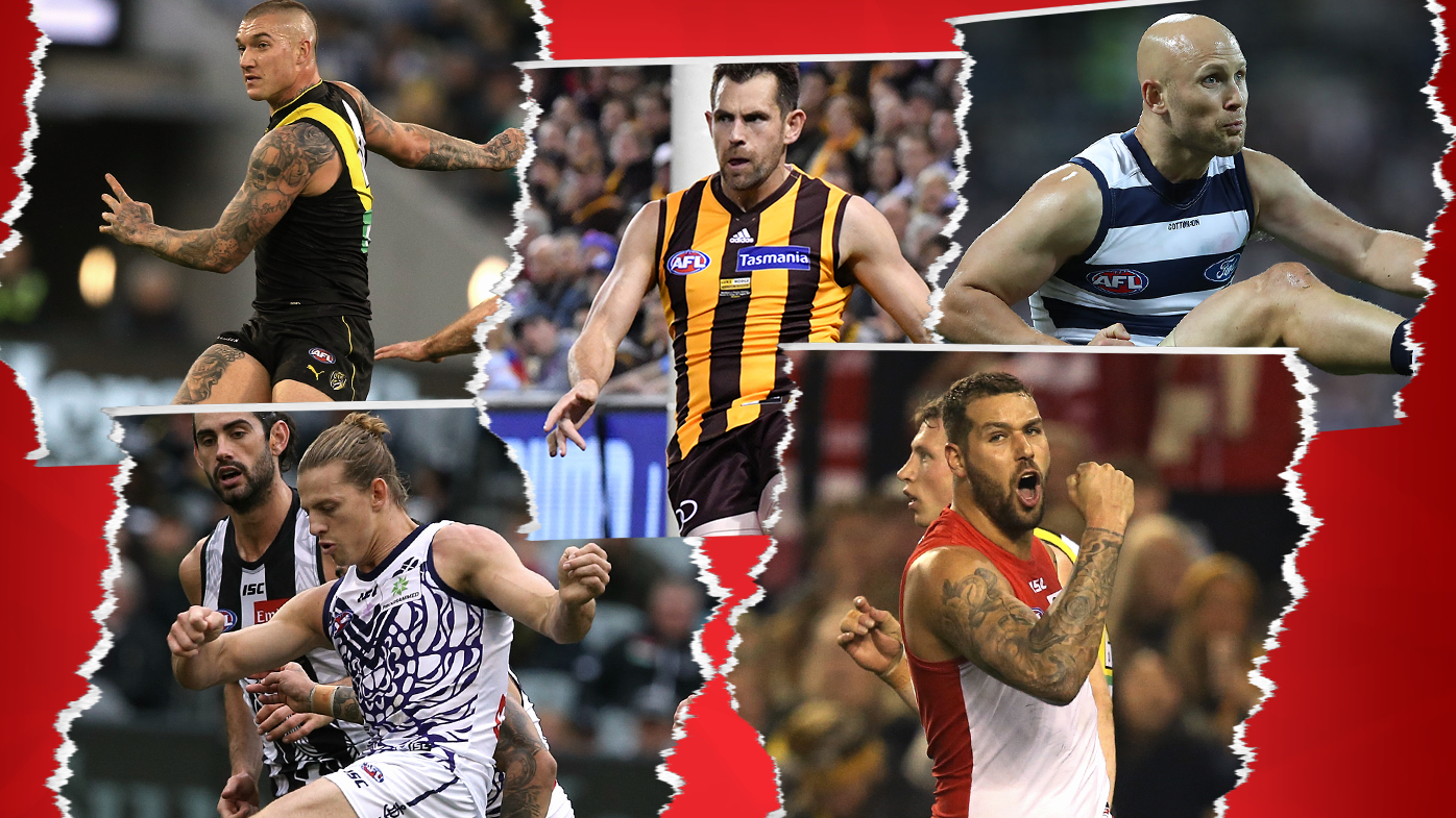 'He does things no other player has': Matthew Lloyd's top five AFL players of the decade