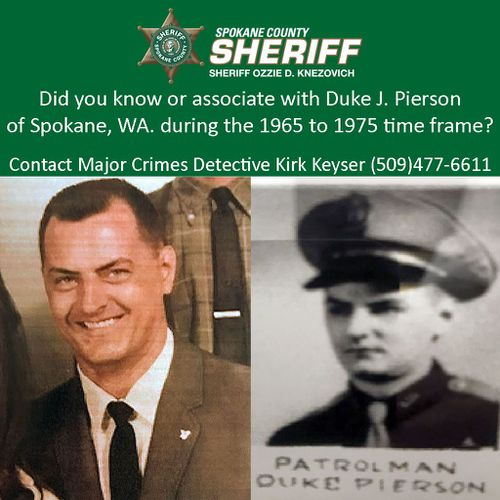 Police believed Duke J. Pierson was behind the cold case murders of three women. Picture: Spokane County Sheriff Department