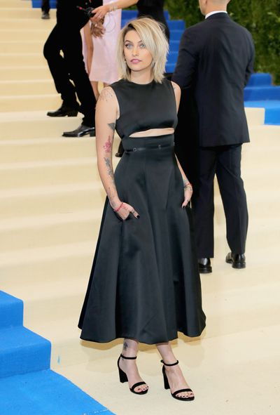 Paris Jackson in Calvin Klein at the 2017 Met Gala,&nbsp;<em>Rei Kawakubo/Comme des Garcons: Art Of The In-Between</em>