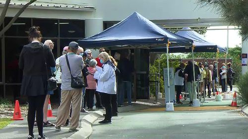 Long lines were commonplace across Queensland with many wanting to ensure the lockdown ends.