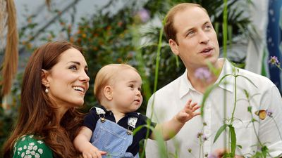 <strong>Kate Middleton, Prince George and Prince William, July 2014</strong>