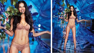 Victoria's Secret angel Adriana Lima opened the event for her 15th show. (Instagram)