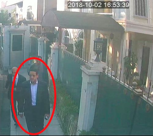 The man, who appears in a surveillance photo leaked today, has been identified by Turkish officials as Maher Abdulaziz Mutreb.