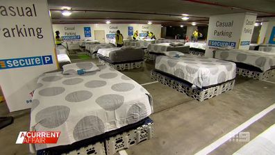 The carpark operation providing beds for the homeless