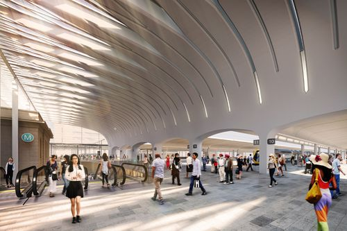 How the new Central Station will look.