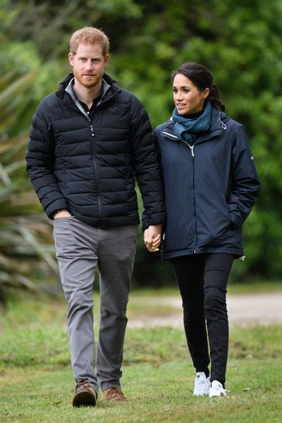 Prince Harry, Duke of Sussex and Meghan, Duchess of Sussex visit Abel Tasman National Park, which sits at the north-Eastern tip of the South Island, to visit some of the conservation initiatives managed by the Department of Conservation on October 29, 2018 in Wellington, New Zealand.
