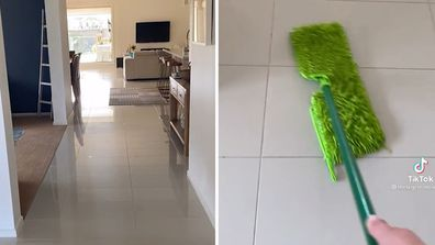 Professional cleaner reveals the secret to streak-free tiles on TikTok