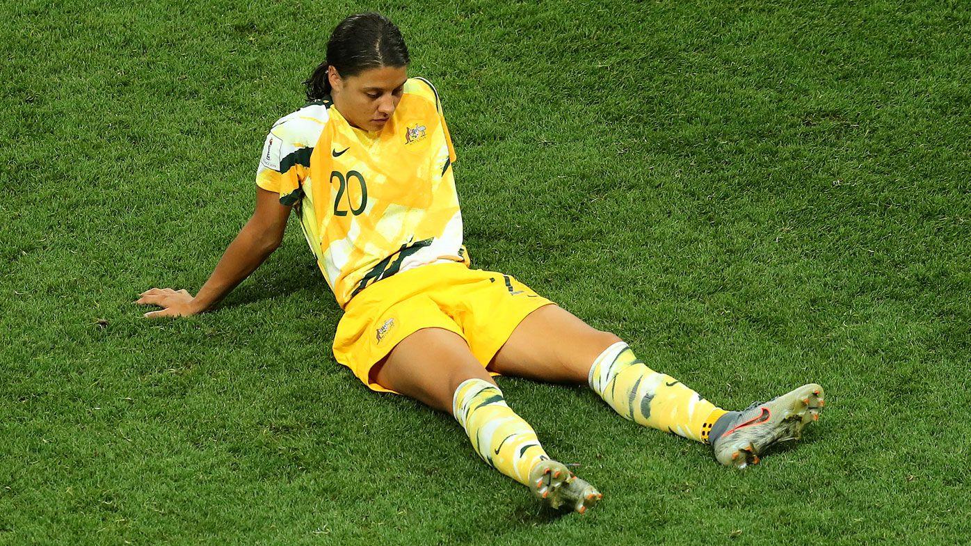 Sam Kerr heartbreak as superstar Matildas captain misses penalty shootout kick