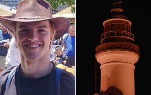 Byron Bay lighthouse glows red to honour  missing backpacker as family lead tributes