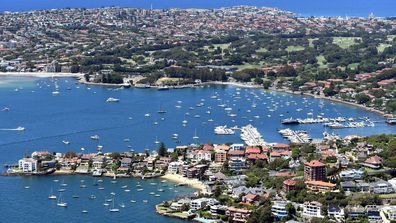 An aerial view of houses in Rose Bay and Point Piper in Sydney, New South Wales. Betfair is now offering gamblers betting markets to punt on Australian property prices during the coronavirus pandemic.