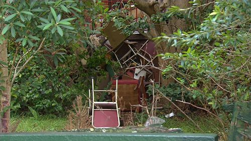 The late occupant, Bruce Roberts, is understood to have been a hoarder. Picture: 9NEWS