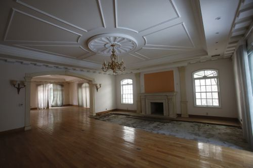 The salon in the mansion.