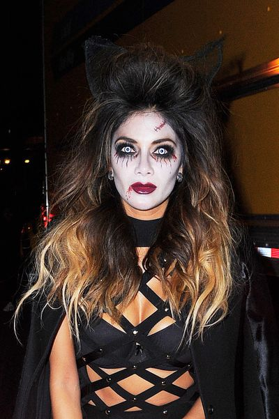 Singer and actress Nicole Scherzinger purrs as zombie cat, Grizabella.