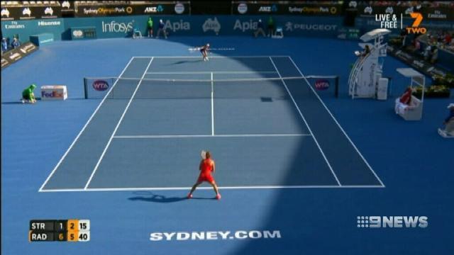 Radwanska v Konta in Sydney tennis final