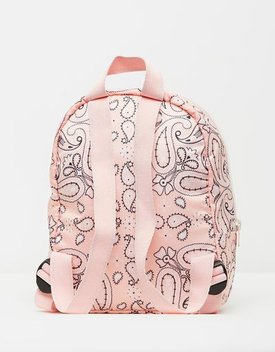 "<a href=""https://www.theiconic.com.au/converse-x-miley-bandana-backpack-633297.html"" target=""_blank"">Converse X Miley Bandana Backpack in Pink Dogwood, $95</a>"