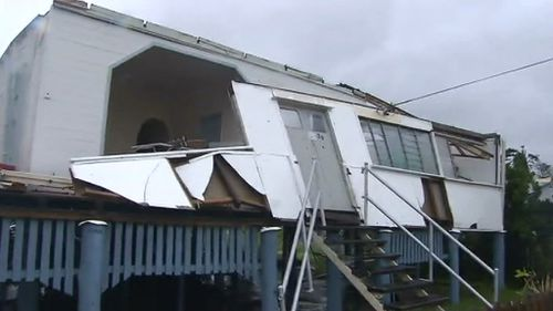 Many homes have suffered severe structural damage. (9NEWS)